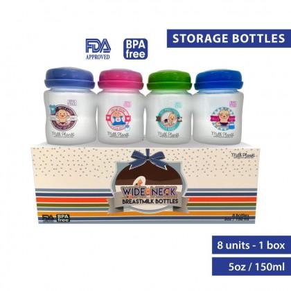 Milk Planet Hello Baby Hello Mom Wide-neck bottles [8 count]
