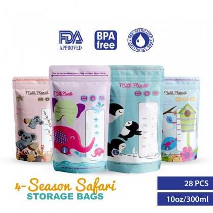 Milk Planet 4-Season Safari Breastmilk Storage Bag (10oz/300ml)