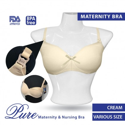 Milk Planet Pure Maternity and Nursing Bra Fully Cotton & No Wire